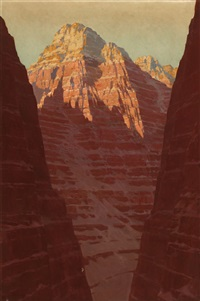 sunrise on canyon walls by fernand harvey lungren
