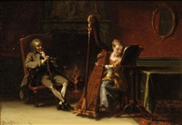 the recital: le grand père et la petite fille by david joseph bles