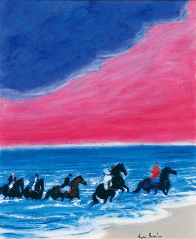 cavalcade au ciel rose by andré brasilier