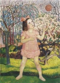 labdázó kislány (girl with a ball) by endre hegedüs