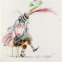 fashion guru, anna piaggi by gerald scarfe
