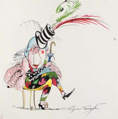 fashion guru anna piaggi by gerald scarfe