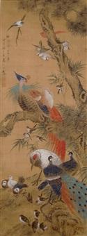 朝鳳圖 ma yuanyu qing dyansty the phoenix by ma yuanyu