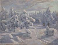 i nordmarka etter snefall by otto hennig