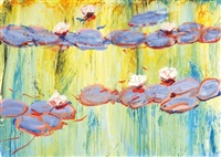 water lilies (diptych) by gyula konkoly