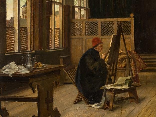 schilderij en profil