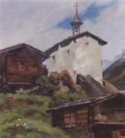 kapelle von elsten im lötschental by karl anneler