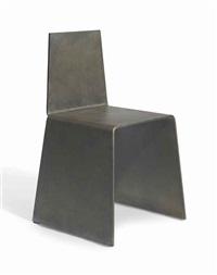steel furniture set: chair by scott burton