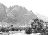 mountainous desert scene by perry mcneely
