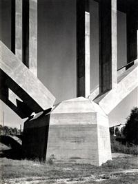 a) autobahnbrücke; b) autobahn münchen - traunstein, talübergang bei bergen; c) reichsautobahn münchen - salzburg (3 works) by adolf lazi and john w. paul