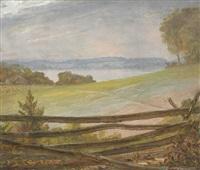 rail fence, long island by william sidney mount