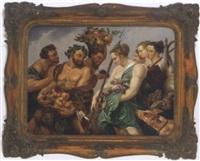 allegorische darstellung, nach altem vorbild by f. hauser