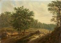 bewaldete landschaft mit hirtenstaffage by david ortlieb