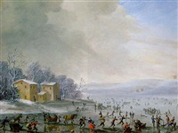 ice-skating by robert van den hoecke