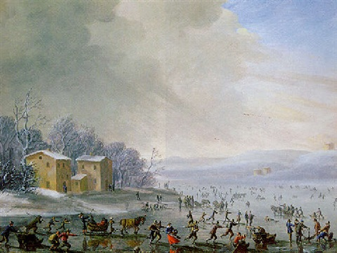 ice skating by robert van den hoecke