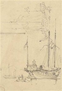 studies of junks by george chinnery
