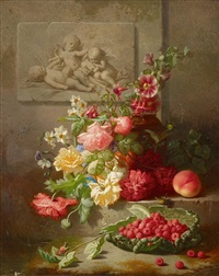 floral still life by albert raoux