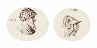 a bust of roma (+ a bust of a forest god; 2 works) by jacques de gheyn ii