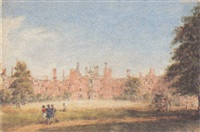 view of hampton court from the west by henry bryan ziegler