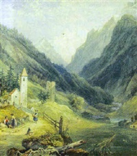 pontrisina in the ober engadine by henry gastineau