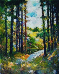 the clearing on mcmahan island, sheepscot river, boothbay harbor by philip little