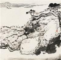 山水 立轴 水墨纸本 by yang shanshen