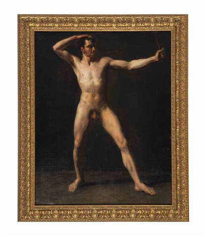 study of a male nude by théodore géricault