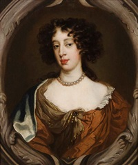 portrait of mary of modena, consort of james ii by sir peter lely