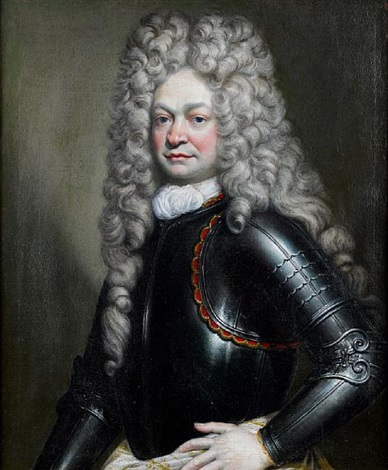portrait of a gentleman in armour by joseph vivien