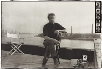 francis bacon on his roof at 80 narrow street, london, march by peter beard