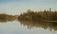 saranac lake by homer dodge martin