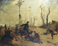 scène de la guerre de 1870 by lucien pierre sergent