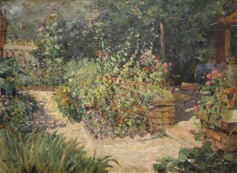 jardin au printemps by louis abel truchet