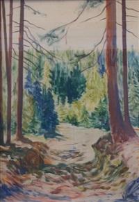 pejzaż leśny z drogą by zenon kononowicz