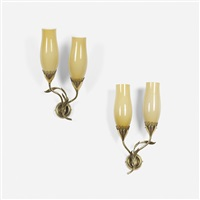 sconces (pair) by paavo tynell