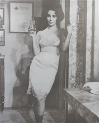elizabeth taylor (cat on a hot tin roof) by russell young
