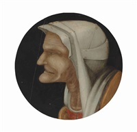 head of an old peasant woman by pieter brueghel the younger