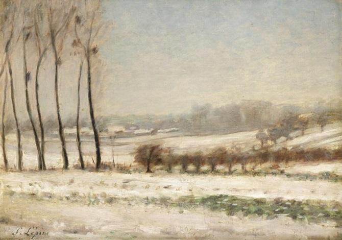 peupliers sous la neige by stanislas lépine