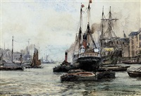 wapping reach, london by frederick william scarborough