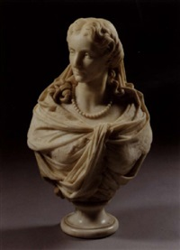bust of a french noblewoman by antoine-samuel adam-salomon
