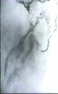 reclining nude by johann hendrikus moesman