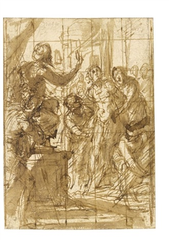 study for a scene of martyrdom by giovanni battista paggi