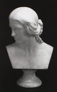 bust of a woman by henry kirke brown