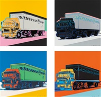 truck (set of 4) by andy warhol