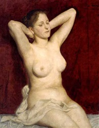 a female nude by josef köpf