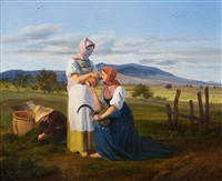 rest from work in the fields by friedrich philip reinhold