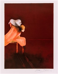 left panel (from second version of the triptych) by francis bacon