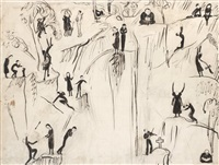sketch to vattenfallet by nils von dardel