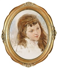 leányka portréja by friedrich von amerling
