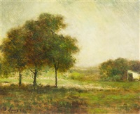 sunlit meadow by george inness